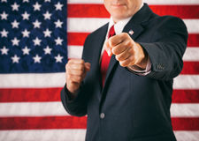 Politician: Fist Raised In Punching Motion Stock Photography