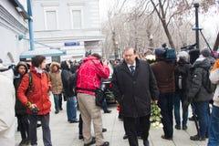 Politician Gennady Gudkov at the funeral of Boris Nemtsov Stock Images