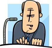 Politician giving speech cartoon Stock Images