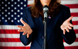 Politician: Giving a Speech Royalty Free Stock Images