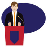 Politician giving speech Stock Photo