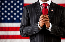Politician: Hands Clasped in Prayer Stock Image