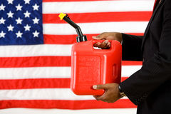 Politician: Holding a Gas Can Concept Stock Image