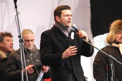 Politician Ilya Yashin on the stage of opposition Royalty Free Stock Image
