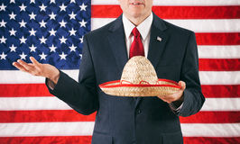 Politician: Man Holding Mexican Sombrero Stock Photos