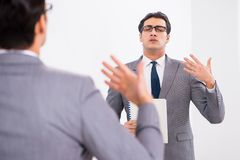 The politician planning speach in front of mirror. Politician planning speach in front of mirror royalty free stock photo