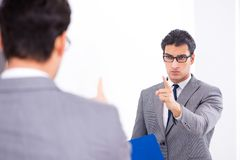 The politician planning speach in front of mirror. Politician planning speach in front of mirror royalty free stock images