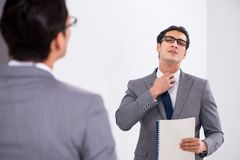 The politician planning speach in front of mirror. Politician planning speach in front of mirror stock image