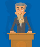Politician on the podium Royalty Free Stock Photography