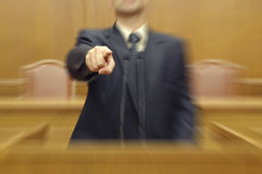 Politician pointing directly at viewer, calling to vote Royalty Free Stock Photos
