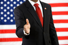 Politician: Ready to Give Handshake royalty free stock photography