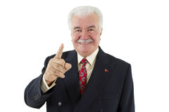 Politician's Finger Royalty Free Stock Images