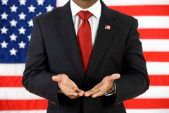 Politician: Showing Empty Hands Royalty Free Stock Photography