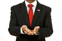 Politician: Showing Empty Hands Royalty Free Stock Images