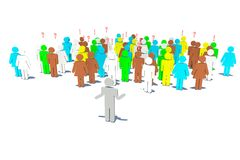 Politician speaks to electors royalty free stock images