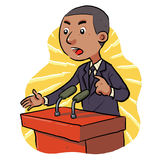 Politician. Speech in front of the audience.  eps8 Royalty Free Stock Photo