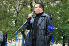 Politician Stanislav Yakovlev anti-war rally for Stock Photos