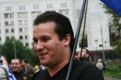 Politician Stanislav Yakovlev at the rally of Stock Image