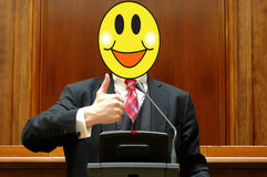 Politician With A Smiling Face Royalty Free Stock Image