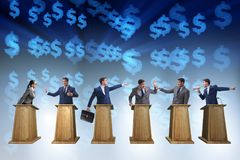The politicians participating in political debate. Politicians participating in political debate stock images