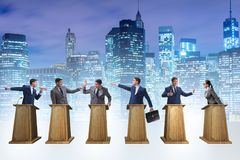 The politicians participating in political debate Royalty Free Stock Photography