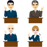 Politicians Speaking Royalty Free Stock Photo