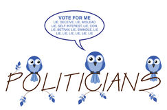 Politicians twig text Stock Image
