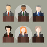 Politicians. Vector illustration with the image of politicians and officials stock illustration