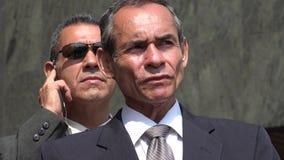 Politicien With Bodyguard photos libres de droits
