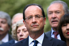 Politicien français Francois Hollande photo libre de droits