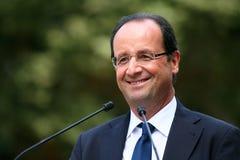 Politicien français Francois Hollande Images libres de droits