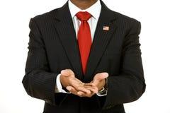 Politicien : Représentation des mains vides images libres de droits