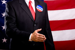 Politico che agita le mani Fotografia Stock