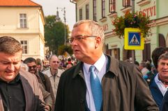 Politico di Miroslav Kalousek, pellegrinaggio nazionale, ¡ Boleslav, 28 di Starà 9 2017, Fotografie Stock
