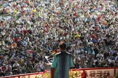 Politico malese Anwar Ibrahim che dà un discorso Immagine Stock