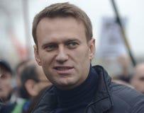 Politico Moscow di opposizione di Alexei Navalny Fotografia Stock Libera da Diritti