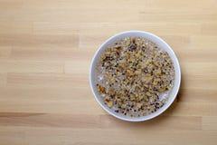 Politicodessert van de bouillon van gekookte tarwe Stock Foto