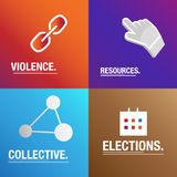 Politics background about corruption, laws and polls for the elections Stock Images