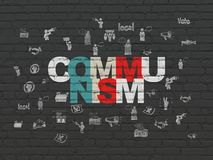 Politics concept: Communism on wall background Royalty Free Stock Photos