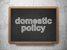 Politics concept: Domestic Policy on chalkboard background Stock Photo
