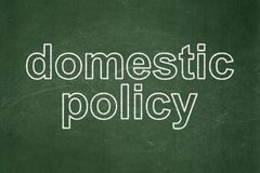 Politics concept: Domestic Policy on chalkboard background Royalty Free Stock Image