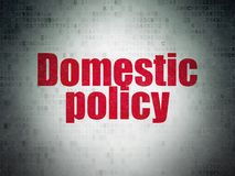 Politics concept: Domestic Policy on Digital Data Paper background. Politics concept: Painted red word Domestic Policy on Digital Data Paper background Stock Photo