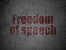 Politics concept: Freedom Of Speech on grunge wall background Stock Image