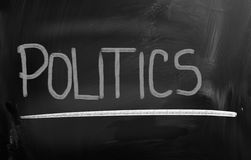 Politics Concept. Concept Handwritten With Chalk On A Blackboard Royalty Free Stock Photos