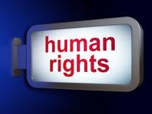 Politics concept: Human Rights on billboard background. Politics concept: Human Rights on advertising billboard background, 3D rendering Royalty Free Stock Photos