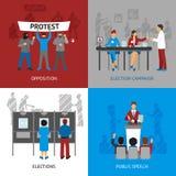 Politics Concept Icons Set Stock Image