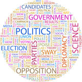 POLITICS. Concept illustration. Graphic tag collection. Wordcloud collage stock illustration