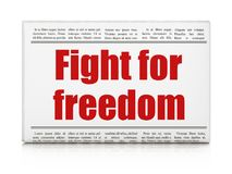 Politics concept: newspaper headline Fight For Freedom. On White background, 3D rendering Stock Photo