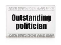 Politics concept: newspaper headline Outstanding Politician Stock Photos