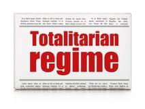 Politics concept: newspaper headline Totalitarian Regime Royalty Free Stock Photography